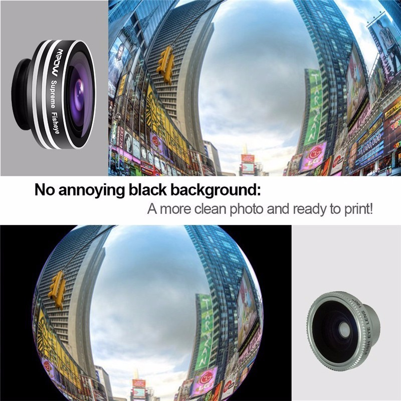 KHP 3 In 1 Universal Phone Lens Clip camera Mobile Phone Lenses For iphone 4 4S 5 5S 6 6S Samsung Galaxy S5 Fish Eye+Macro+Wide 10