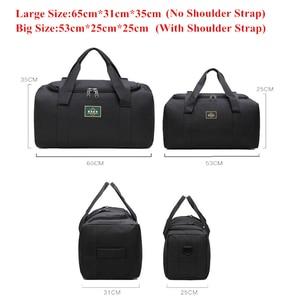 Image 2 - Fashion Men Travel Bags Male Luggage Bag Nylon Large Big Capacity 2 Sizes Duffel Bags Multifunction Shoulder Handbags for Women