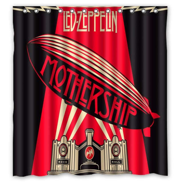 Vixm Home Led Zeppelin Shower Curtains Movies Symbol Waterproof Fabric Bathroom 66x72 Inch