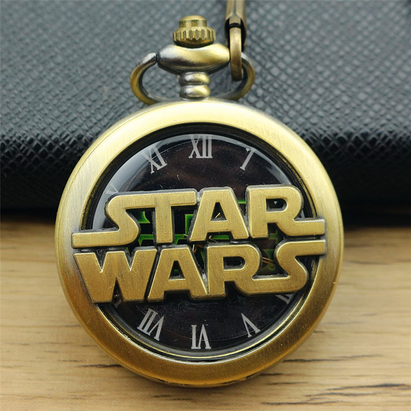 New Darthworks Vader Design Cool Black Face Star War Pocket Watch Awesome Birthday Gifts for Children Men Women quartz watches