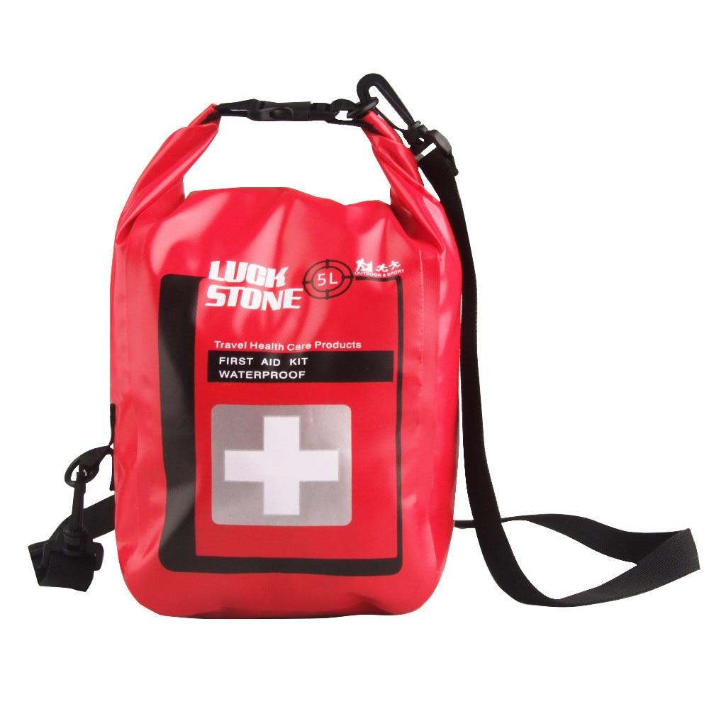 JY trousse de premiers soins médicaux aventure en plein air étanche Portable secours articles épaule sac étanche 5L capacité