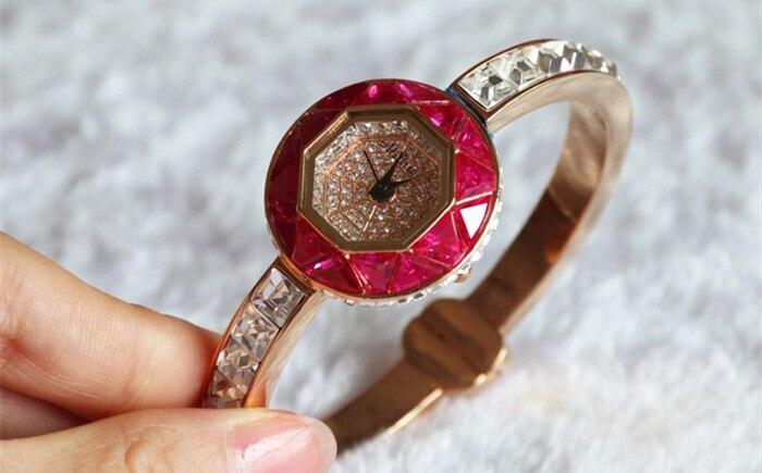 Relógios de Luxo Relógio de Pulso Relógio de Pulso de Quartzo Melissa Delicado Bonito Fina Bangle Brilhante Rhinestone Bracelet Fantasia Jóias de Quartzo Presente Montre