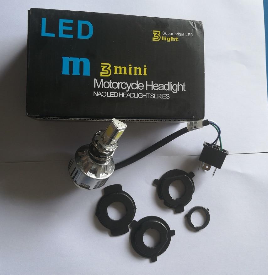 JX LCLYL H4 BA20D 34W LED Hi Lo Beam Motorcycle Headlight Front Light font b Lamp