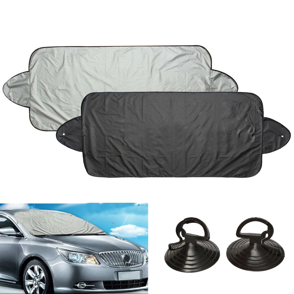 1 X Front Rear Car Window Mirror Windshield Sunshade Shield Cover Visor UV Block-in Windshield Sunshades from Automobiles & Motorcycles