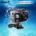 Ir Pro Câmera Ultra Full HD 4 K Câmera de Ação de Esportes 1080 p 30 M Debaixo D' Água Capacete Cam Lente + 2.4G Romote Control-3738 170D