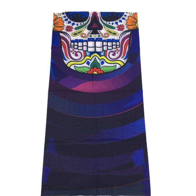 3D Череп Скелет бесшовная Бандана Балаклава головная повязка мотоциклетный головной убор Байкер волшебный платок труба Шея рыболовная вуаль маска для лица - Цвет: TA142