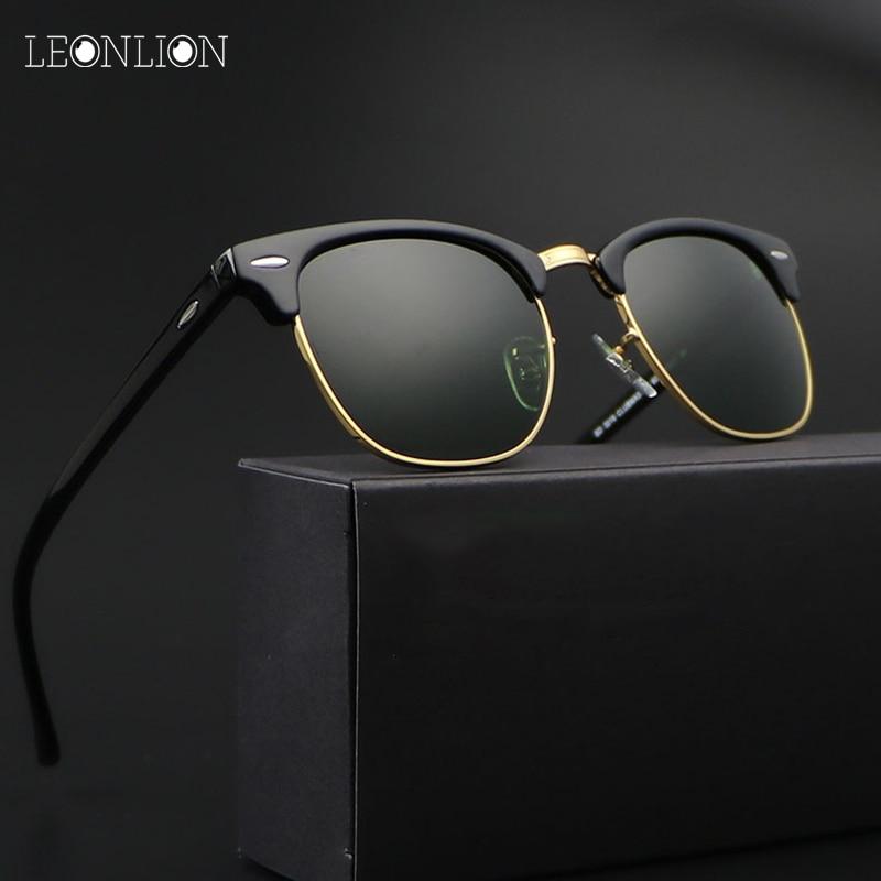 LeonLion 2017 Vintage Rimless Polarized Sunglassess