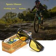 Для мужчин с солнцезащитные очки на открытом воздухе езда очки Ночное видение желтый ТВ солнцезащитные очки ветрозащитные солнцезащитные очки