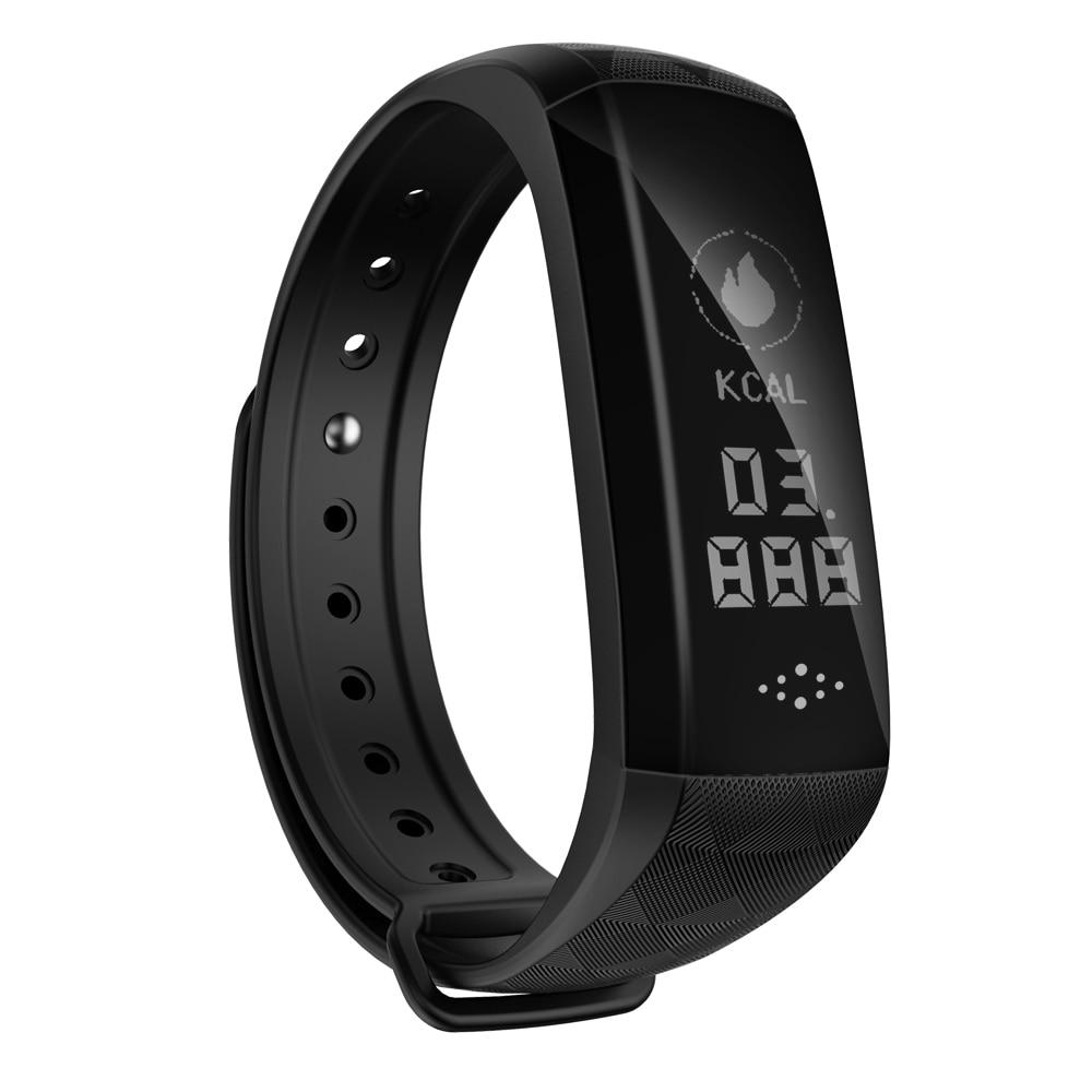 Temperature Smart Bracelet Heart Rate Pulse Blood Pressure Sport Band Waterproof Fitness Stopwatch Smart Wristband free shipping