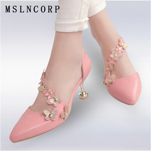 Plus Size 34-46 Fashion Sexy Women Flower Rivets Sandals Pointed Toe Thin High Heels Summer Dress Party Pumps Shoes Footwear New цена в Москве и Питере