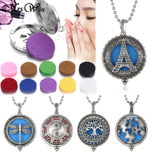 New Aroma Diffuser Necklace Open Silver Lockets Pendant Perfume Essential Oil Aromatherapy Locket Pendants