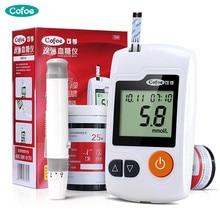 Cofoe Yili Blood Glucose Meter & Test Strips & Lancets Needle Diabetic Tester Medical Blood Sugar Monitor Glucometer for People