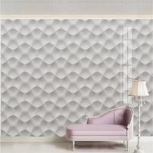 Custom wallpaper modern minimalist 3D embossed texture white plaster TV background wall high-grade waterproof material