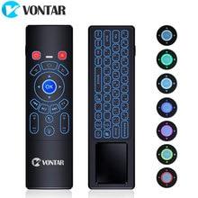 VONTAR T6 Plus с подсветкой 2,4 ГГц Air mouse мини беспроводная клавиатура и тачпад пульт дистанционного управления для Android tv Box Мини ПК проектор