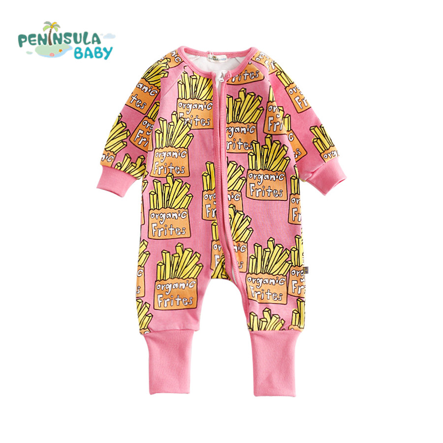 Hot Sale Newborn Baby Rompers Children's Clothing Pajamas Long Sleeve Jumpsuits Overalls Boys Girls Autumn Clothes Outerwear sanlutoz baby rompers set newborn clothes baby clothing boys girls brand cotton jumpsuits long sleeve overalls coveralls winter