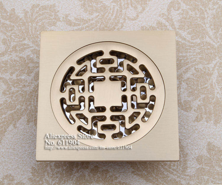 Brass Polished Bathroom Floor Drain Shower Waste Grate Trap With Hair  Strainer Cover 3782132 China. Compare Prices on Floor Drain Traps  Online Shopping Buy Low Price