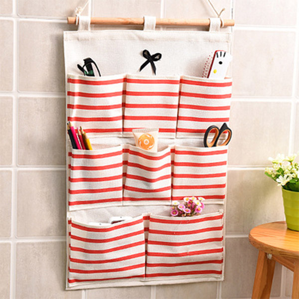 Creative 8 Pockets Door Wall Hanging Clothing Jewelry Closet Storage