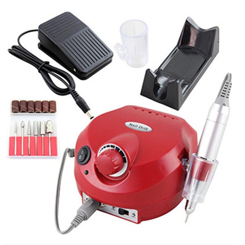 Sistema elettronico Nail Care Manicure Pedicure Nail Buffer di File Strumenti di Arte Del Chiodo lucidatore drill penna Micromotore lucidatura macchina