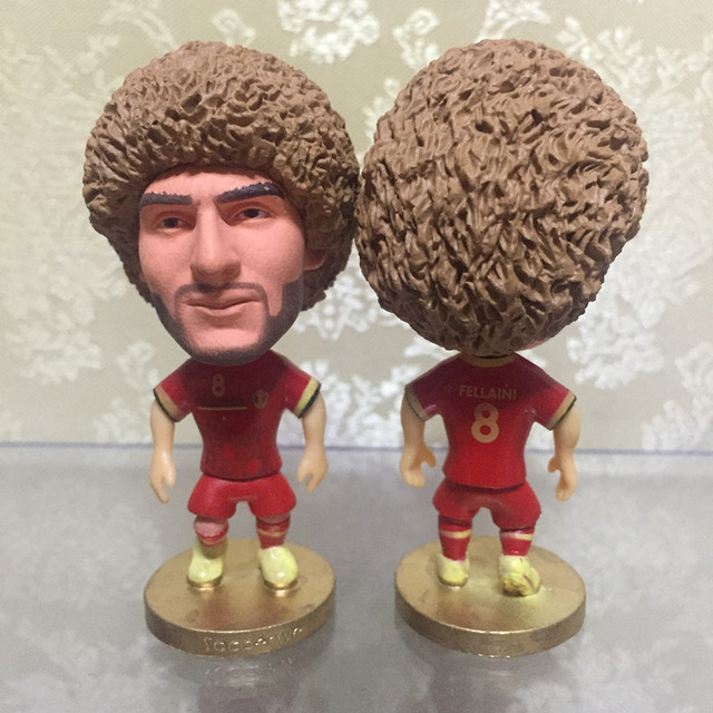 Soccerwe Football Player Dolls Belgium 8 Fellaini Figurine Red Kit  Collections for 2018 Cup Gift Birthday 1cfe8d2c4