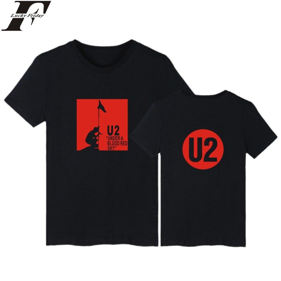 LUCKYFRIDAYF U2 Druck Baumwolle Männer T-shirt Mit Kurzarm Und U2 Rock Band...