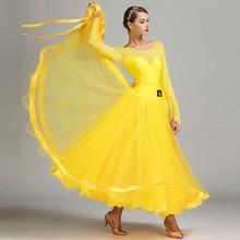 Yeni varış Modern dans elbise kadın kostüm performans giyim ulusal standart dans üniforma performans takım elbise B 6138