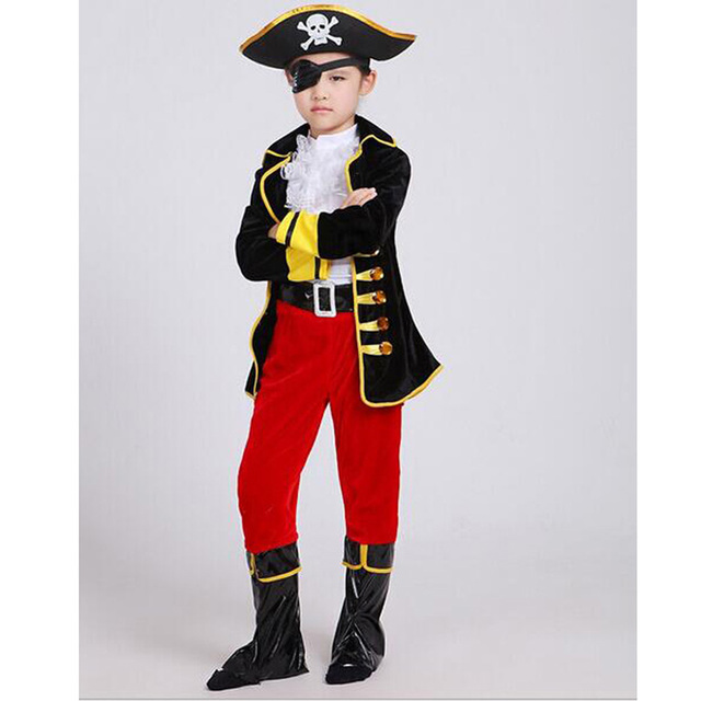 Party Kids Clothes Set Pirate Capain Jack Cosplay Boy Clothing Halloween Costume For Kids Children Christmas Costume