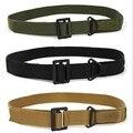 2015 moda casual cinturón de lona de alta calidad de la pretina de Metal Hebilla de cinturones para hombres militar deportes al aire libre verde del ejército de color caqui negro