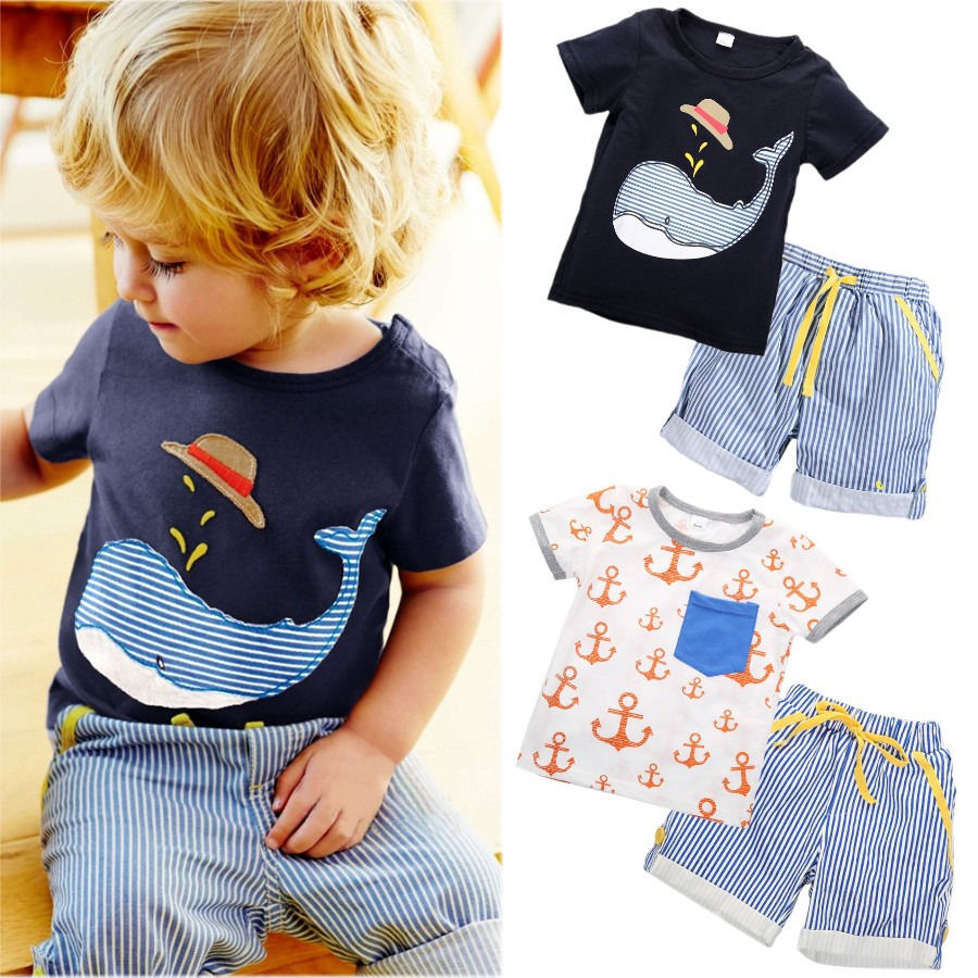 Llegada Infant Baby Summer Toddler Kids Boy Camisetas de manga corta - Ropa de ninos
