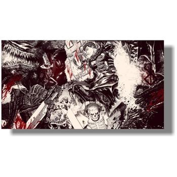 Zdjęcia ścienny do dekoracji wnętrz duże rozmiary custom made Berserk plakat 110 #215 60 cm tanie i dobre opinie Poziome Prostokąt Rysunek malarstwo TAKE PIPE BOY Mieszkanie Akrylowe Unframed Nowoczesne Jedwabiu Na płótnie POSTER
