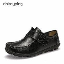 Nowe oryginalne skórzane damskie jesienne buty na co dzień panie mokasyny moda mokasyny kobiece mieszkania solidne buty kobieta duży rozmiar 35 42