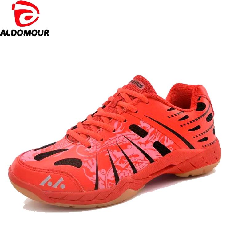 ALDOMOUR Badminton Shoes For Men Women Badminton Sneakers Couples Badminton Sneaker Indoor Sport Tennis Shoes cxl top quality men s badminton shoes breathable sport shoes brand sneakers table tennis shoes badminton shoes for men size 35 44