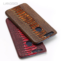 JUNDONG brand phone case ostrich foot grain half wrapped phone case For Huawei Honor 8 phone case handmade custom processing