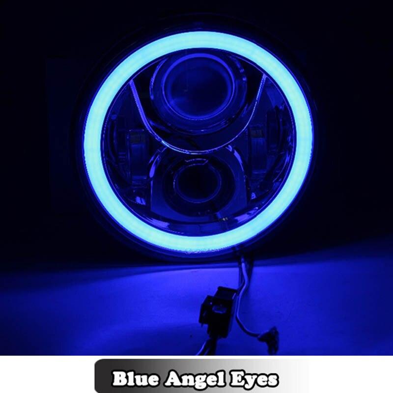 """Lampe ronde de phare LED de 7 """"de pouce avec les yeux d'angle de DRL Halo pour des motos Honda CB 400 500 1300 250 frelon 600 900 VTR 250"""