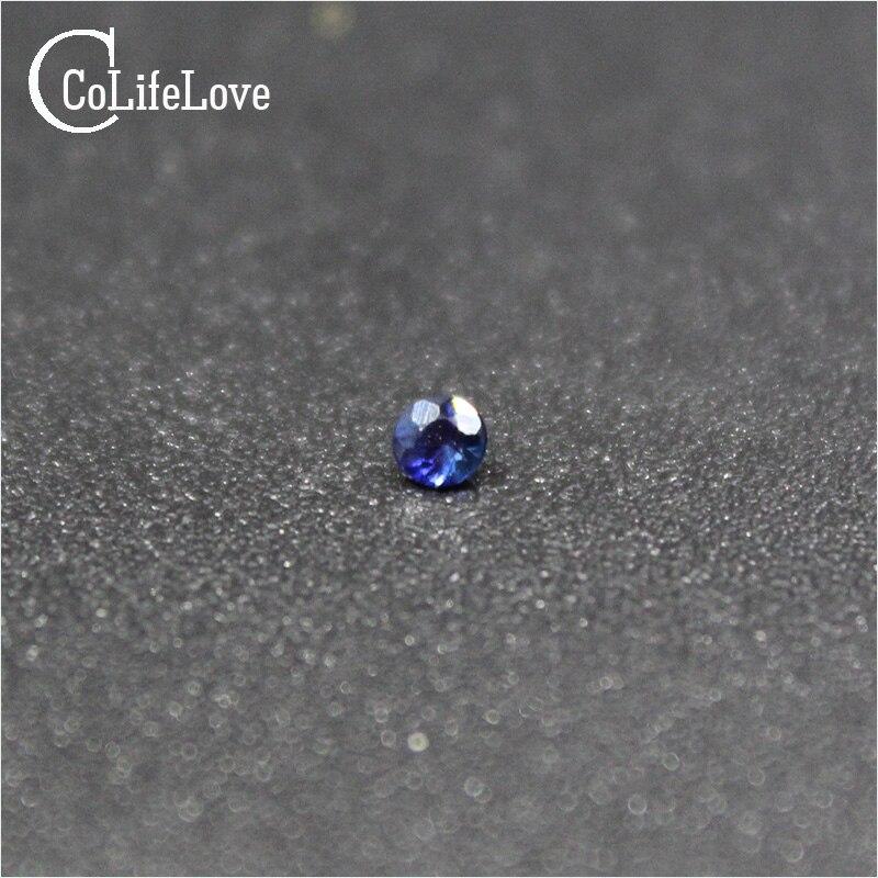 Solta para Jóias Lado de Safira Naturais de Pedra para a Jóia Milímetros Rodada Sapphire Gemstone Loja 100% Diy 1.5
