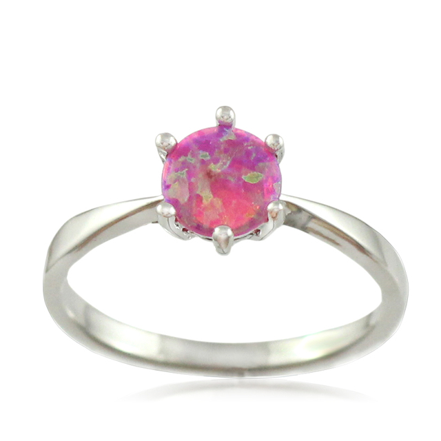 30cb9ff716 HAIMIS Pink Fire Opal CZ Women Claw Inay Fashion Jewelry Opal Ring Size 6 7  8 9 23P