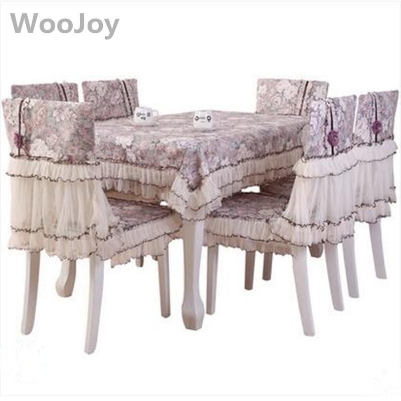 Pastoral Home Hotel comedor/boda silla bordada encantadora tela ...