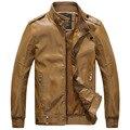 2016 Весной Новый мужской личности Slim Fit мотоцикл кожаная куртка PU высокого качества мужчины марка Кожаные Куртки Пальто