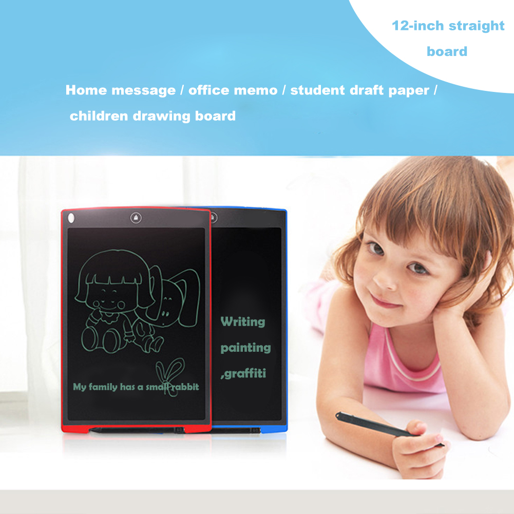 12 font b Digital b font LCD Writing Tablet eWriter Paperless Notepad Writing Tablet Drawing Graphics