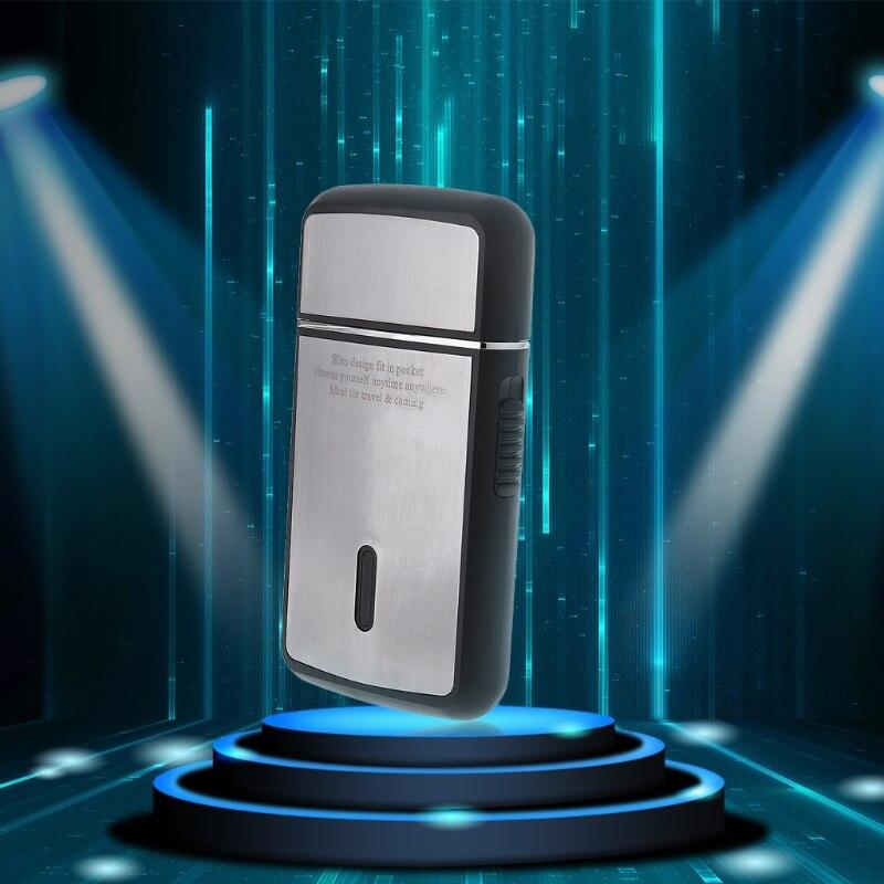 Portable Men's Electric Razor Foil Slim Shaver Removable Head USB Rechargeable Travel House