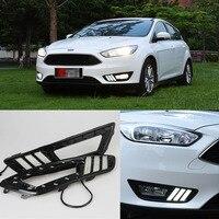 Ownsun новый обновленный светодиодный дневные ходовые огни DRL для Ford Focus 2015