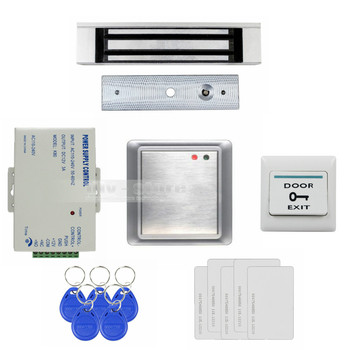 DIYSECUR Waterproof Remote Control Without Keypad ID Card Reader + 180KG Magnetic Lock Access Control System Full Kit Set 8168A|access control|180kg magnetic lock|magnetic lock -