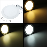 Jiguoor AC 85 ~ 265 V Led Downlight 15 W Down Light Lamp Plafond Inbouwspot Ronde Ultradunne Paneel Lampada Led
