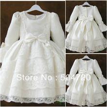 F-21 White Satin Flower girl Lolita Dress victorian dress Floor-length dress Scarlett  costume a7ad9225f440