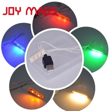 JOY MAGS LED Light Kit 1pcs 1x4 Plate Light Accessory Color With Cool White Warm White