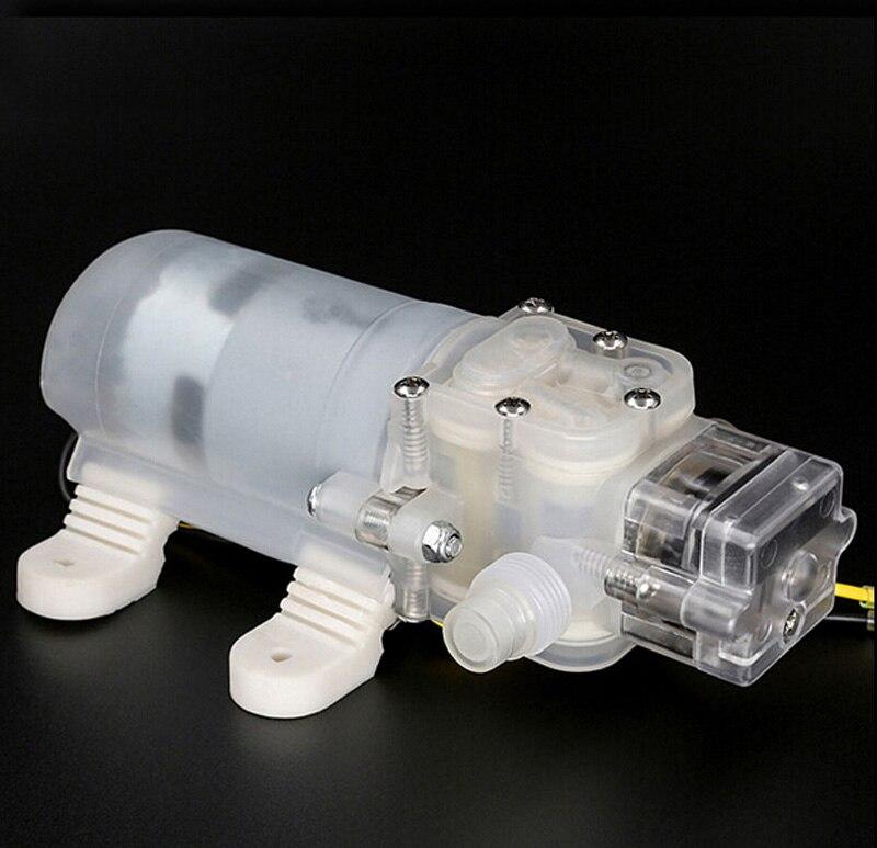 Inodore insipide DC12V 60 W pompe à diaphragme 5L/min pompe de qualité alimentaire mini-auto-absorption pompe 12 V pompe à eau bière lait boissons pompe