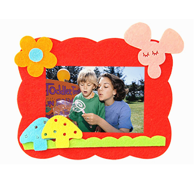 DIY Multicolor Photo Frame with Cloth Stickers Kit