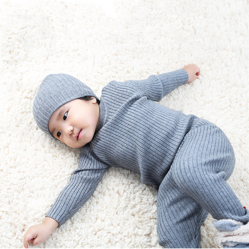 3pcs/set Kids Boys Sweaters Baby Girl Boy Sweater Baby Girl Winter Clothes Pants Hats Bottoming Shirt Autumn Children's Clothing dste np ff50 battery dc07 us plug charger for sony hc1000 ip1 ip220k camera