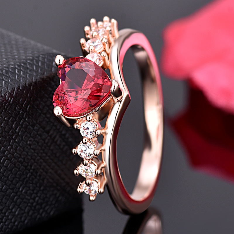 PRECIOUS RUBY RED HEART RING 2