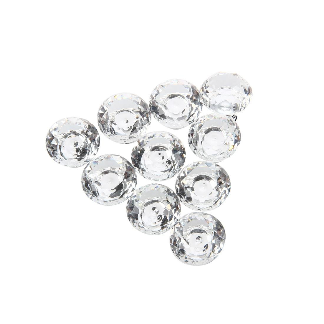 10pcs 30mm Diamond Crystal Glass Door Drawer Cabinet Furniture Handle Knob Screw free shipping hot sale 10pcs k9 crystal handles flash diamond archaize shiny drawer twinkle door knob bathroom handle crystal