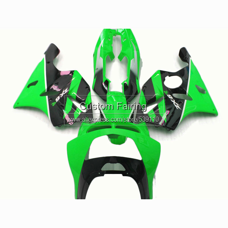 motorcycle fairings for Kawasaki ninja zx6r 1994 1995 1996 1997 lime green  zx 6r fairing kit 94 95 96 97 xl33